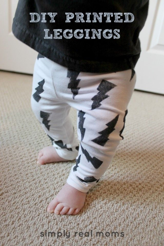 DIY Printed Leggings. So easy and takes only about an hour!
