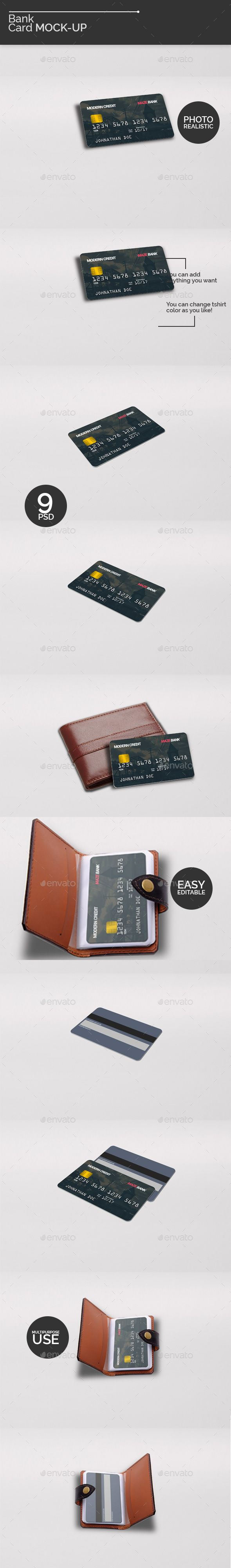 Bank Card MockUps — Photoshop PSD #debit #realistic • Available here → https://graphicriver.net/item/bank-card-mockups/18194188?ref=pxcr