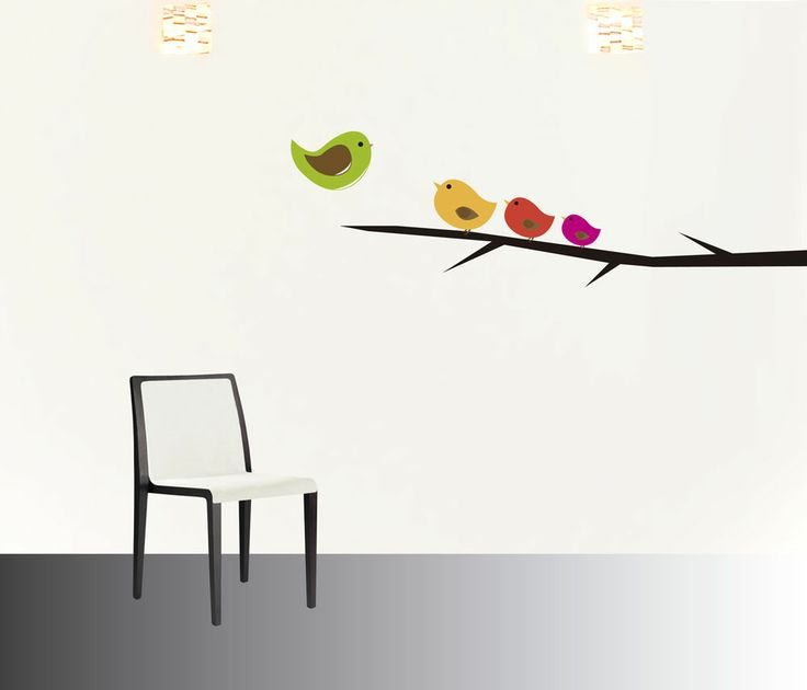 pajaritos trio #decoraconvinil #vinilosdecorativos #decoracion #decoratupared #pajaritos