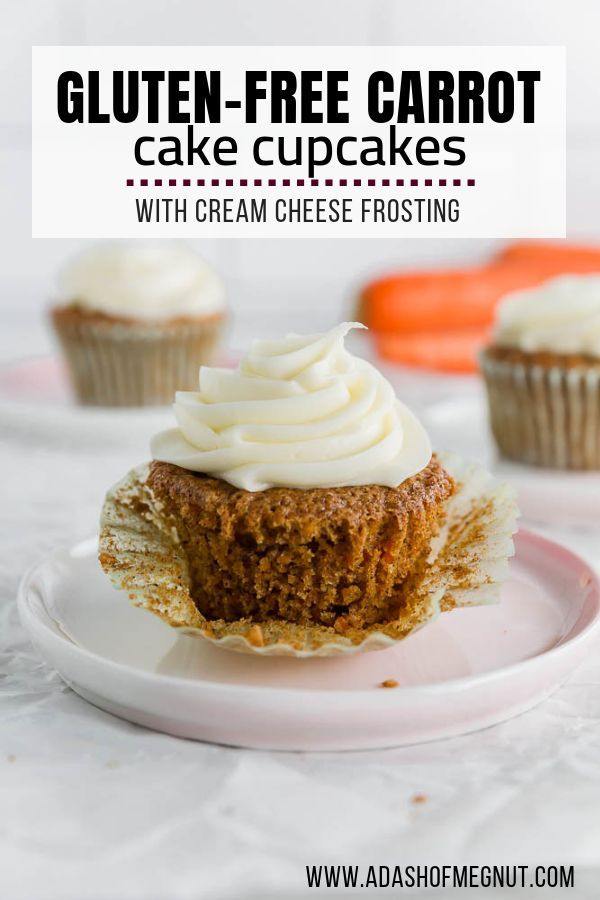 Easy gluten free carrot cake cupcake recipe