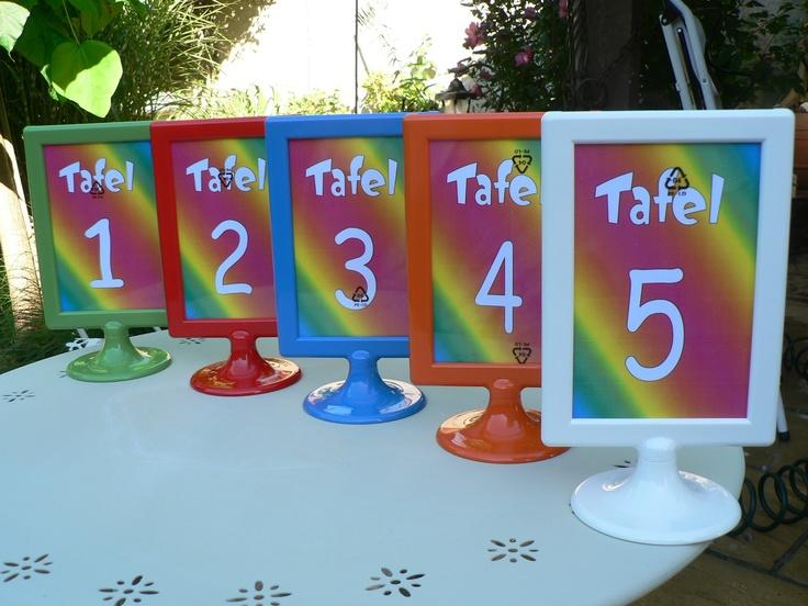 Groepsnummers leuk voor in een tafel in een restaurant