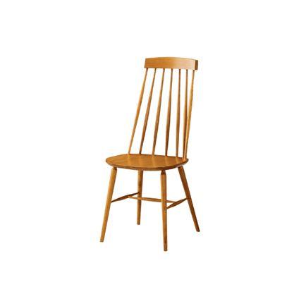 この椅子の背が好き。白もいいね。  KOTONA(コトナ) ハイバックチェア ナチュラル/ウォールナット/チーク/ブラック