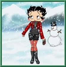 Image result for betty boop winter