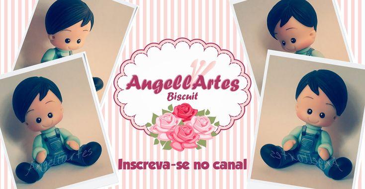 Menino Fofinho Biscuit - AngellArtes