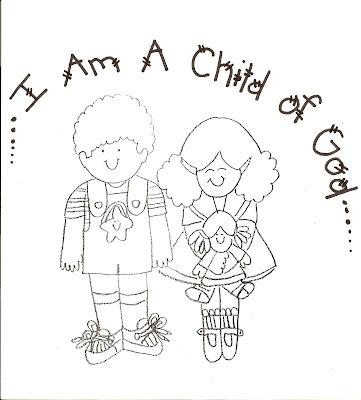 Lds nursery color pages 1 i am a child of god church for I am a child of god coloring page
