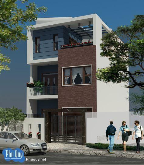 Phú Quý | Phối cảnh mặt đứng nhà phố mặt tiền 7m - Phú Quý
