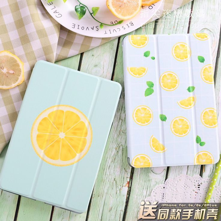 IPad case with lemon skin for
