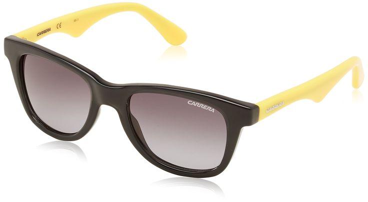 carrera Sunglasses Carrerino 10 Small DDXHD Acetate Black - Yellow Gradient grey black. Reference: Carrerino 10 DDXHD. Model: Female. Material: Acetate. Colour: Black - Yellow. Lens colour: Gradient grey.