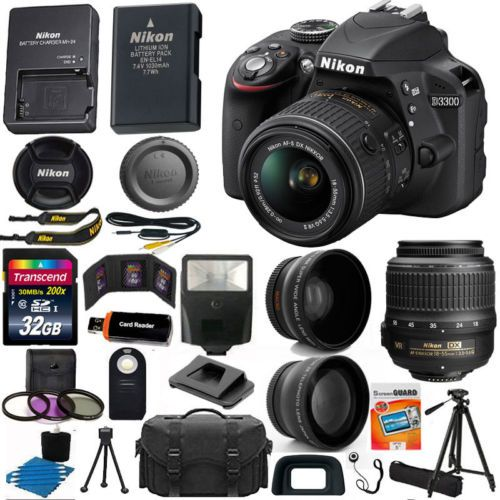 Nikon D3300 Digital SLR Camera 3 Lens Kit 18-55 VR Lens + 32GB Best Value Bundle http://zingxoom.com/d/cwHHJ7S2