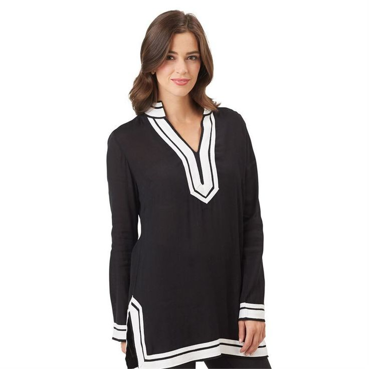 Mud Pie Jordan Tunic -Black