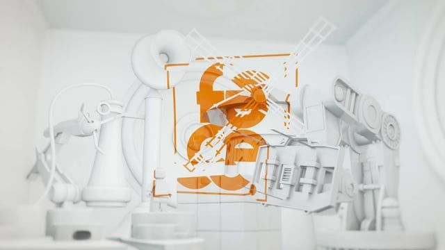 Promotional animated logo ident for Motion Graphics and digital agency facecreatives.com