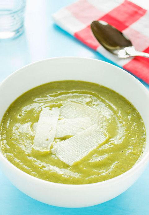 Crema de brócoli y parmesano