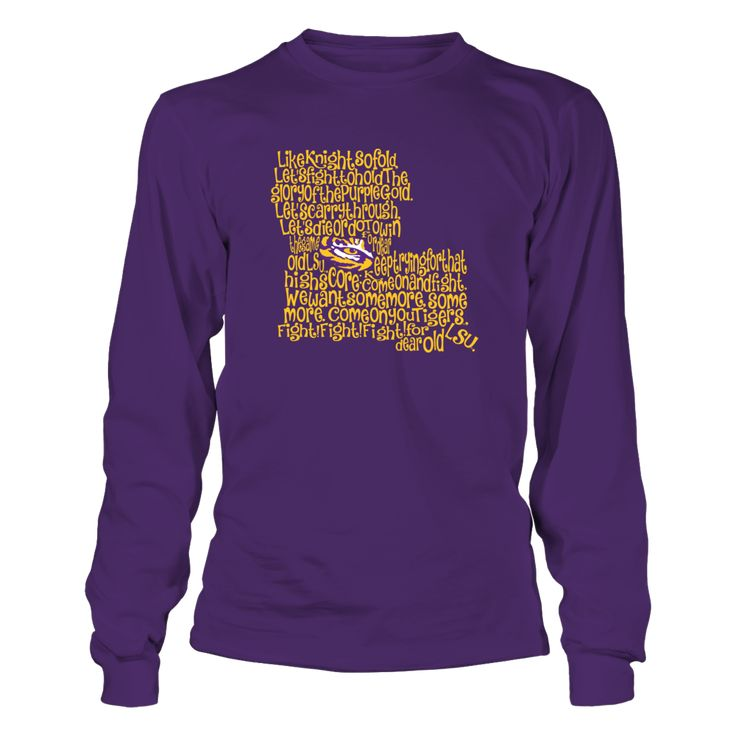 LSU Tigers - Fight Song Inside State Map T-Shirt, Special Offer, not available in shops! Comes in a variety of styles and colors Buy yours now before it is too late! Secured payment via Visa / Mastercard / Amex  The LSU Tigers Collection, OFFICIAL MERCHANDISE  Available Products:          Gildan Long-Sleeve T-Shirt - $33.95 Gildan Unisex Pullover Hoodie - $49.95 Gildan Fleece Crew - $39.95 District Women's Premium T-Shirt - $29.95 District Men's Premium T-Shirt - $27.95 Gildan Unisex T-Shirt…