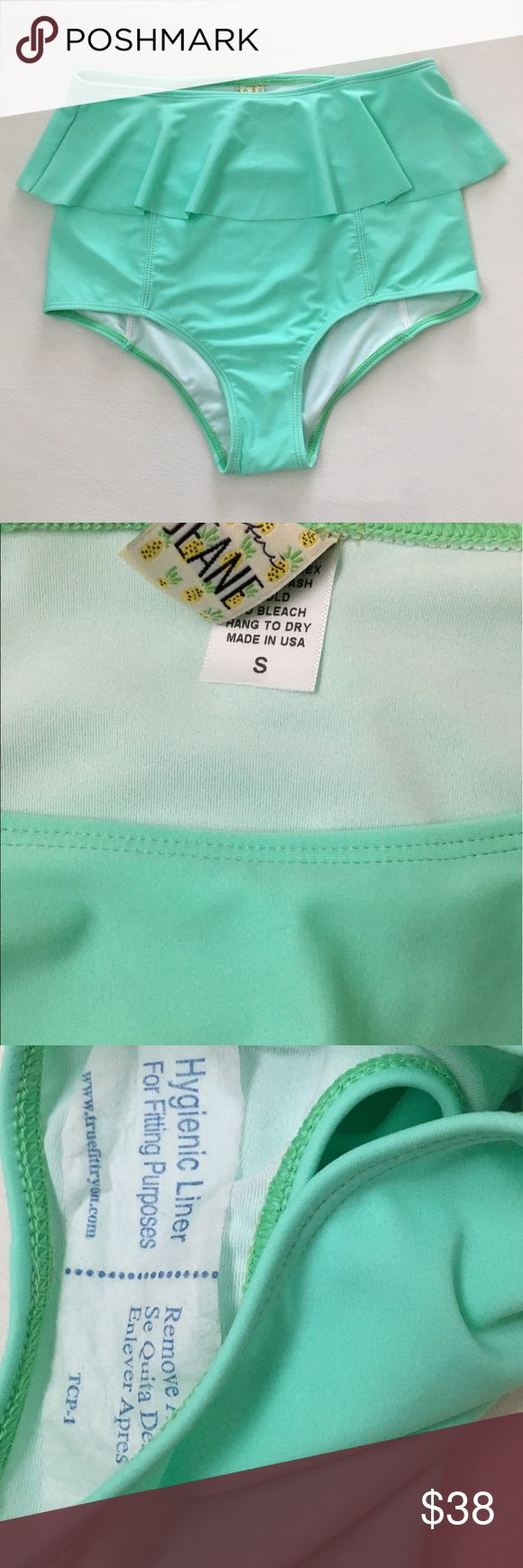 Kortni Jeane mint peplum bottoms New with liner attached. Did not come with tags. kortni jeane Swim Bikinis