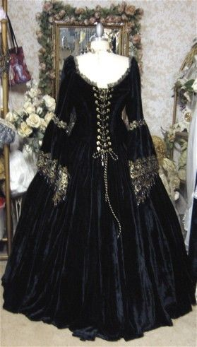 Gothic Renaissance or Medieval Fantasy Wedding by RomanticThreads, $950.00
