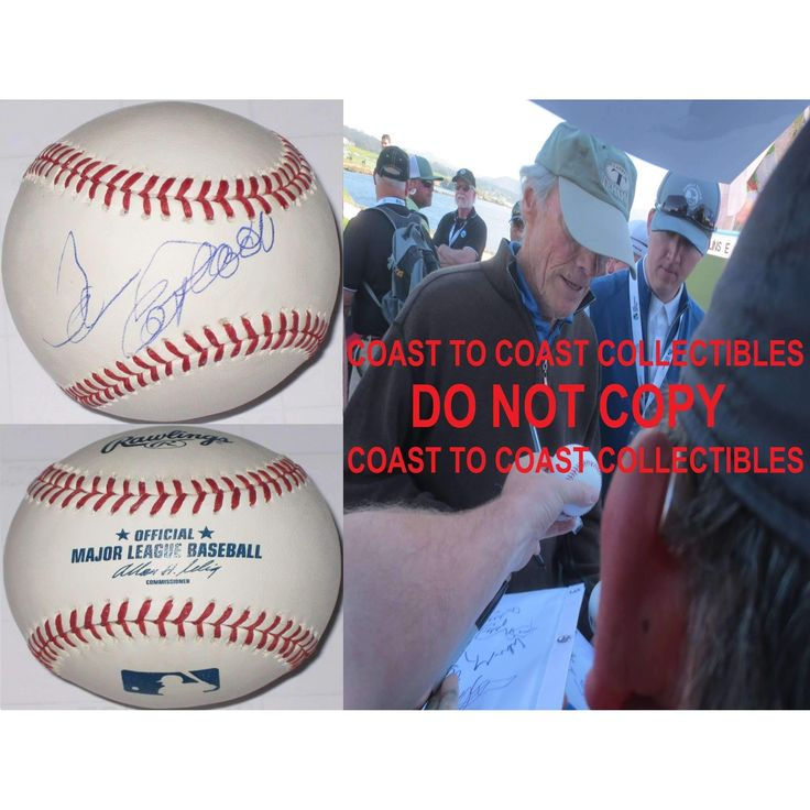 Clint Eastwood, Trouble with the Curve, Movie Star, Signed, Autographed, MLB Baseball, a COA and the Proof Photo of Clint Signing Will Be Included. Vary Rare..