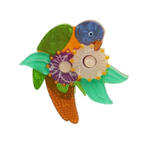 """Erstwilder Collectable Naughty Nectar Nibbler Brooch. """"Making up for my size with my loud voice. Sure I can be a little defiant but calling me a pest? Could a pest be this pretty?"""""""
