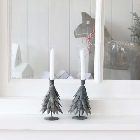 Schwedische Weihnachtsdeko.Kerzenständer Aus Zink Tannenbaum Schwedische Weihnachtsdeko Die