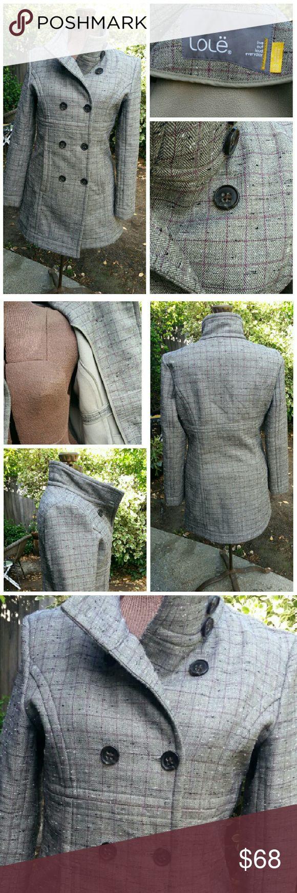 LOLE jacket Very sleek urban jacket with subtle checked pattern Lole Jackets & Coats
