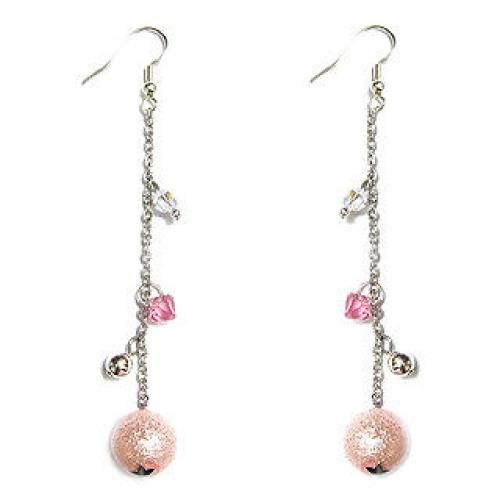 `Fireworks` - Pink Lovers Earring with Swarovski Crystals