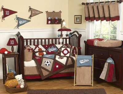 baseball nursery ideas - Google Search. If our next is a boy, then I want to do a baseball theme. I love this set!