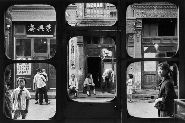 Antiquary Window Beijing 1965, by Marc Riboud