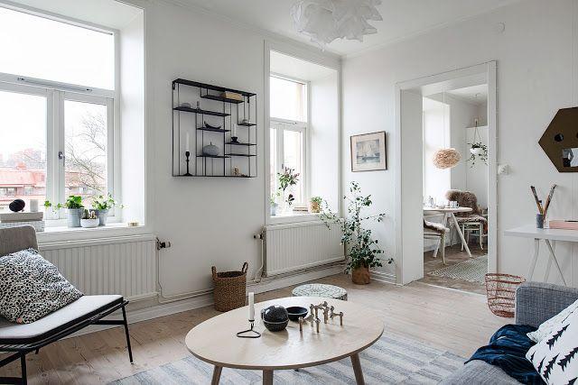 Blog wnętrzarski - design, nowoczesne projekty wnętrz: Jak urządzić przechodnią kuchnię - mieszkanie skandynawskie 39m2