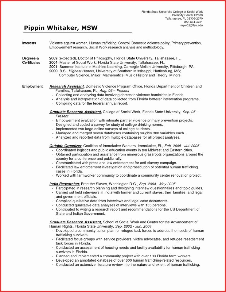 Social Worker Resume Example Awesome Personal Statement