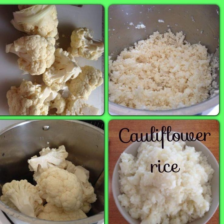 Recipe cauliflower rice by thermo-envy - Recipe of category Side dishes