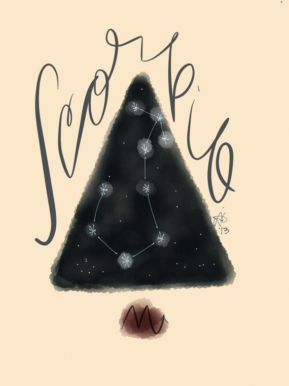 5x7 Digital Print - Scorpio Constellation