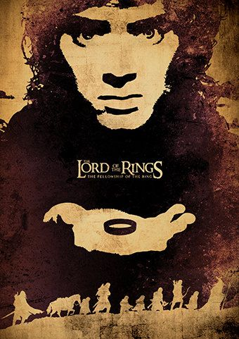 The Lord of the Rings Trilogy and The Hobbit Movie Poster Set, Vintage Poster…