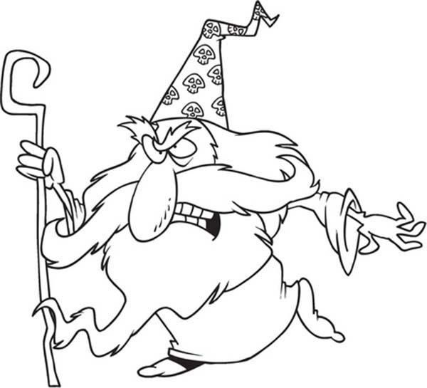 Chibi Merlin The Wizard Is Angry Coloring Pages Merlin The Wizard Coloring Pages Chibi