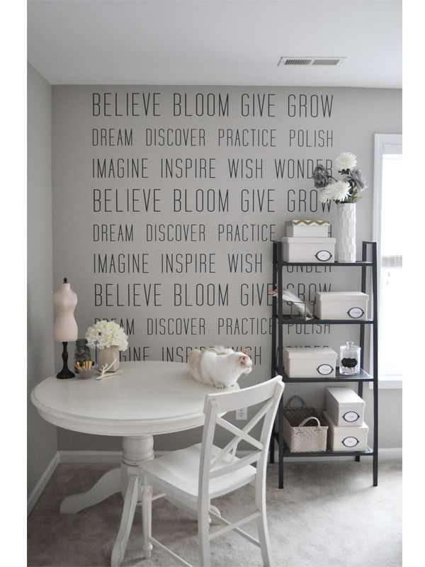 I like this ;-)  The Small Things Blog: wall art : decal