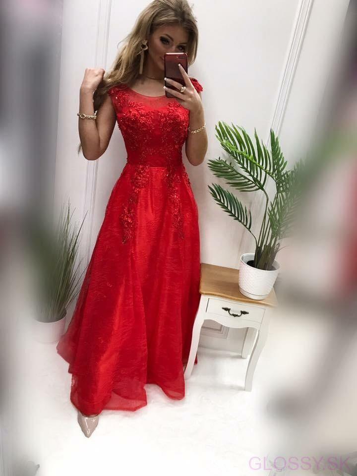 9cdb63446b37 Nádherné dlhé červené spoločenské šaty sú ideálnou voľbou na svadbu ...
