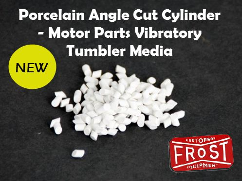 NEW PRODUCT: Porcelain angle cut cylinder for Vibratory Tumbler. It gives minimum abrasion and is used for the finishing process.  http://www.frost.co.uk/ceramic-angle-cut-cylinder-media-motor-parts-vibratory-tumbler.html