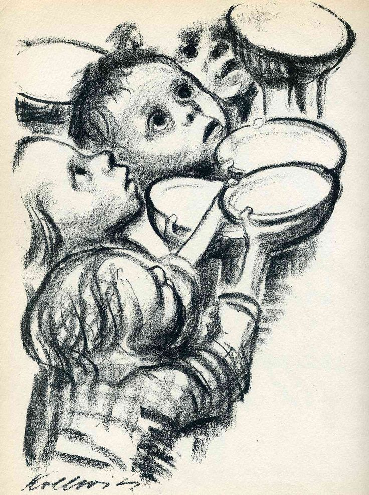 """Just like Goya, Käthe could never turn away…"" KB Käthe Kollwitz, Germany's Children Starve!, 1924"