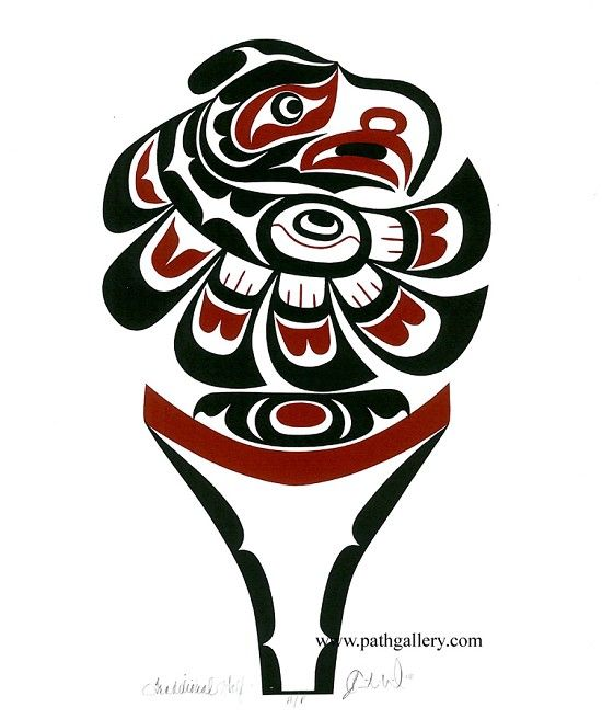 'Eagle Design' A limited edition seigraph print in an edition of 50 by First Nations artist Curtis Wilson, Kwakwaka'wakw. 2007