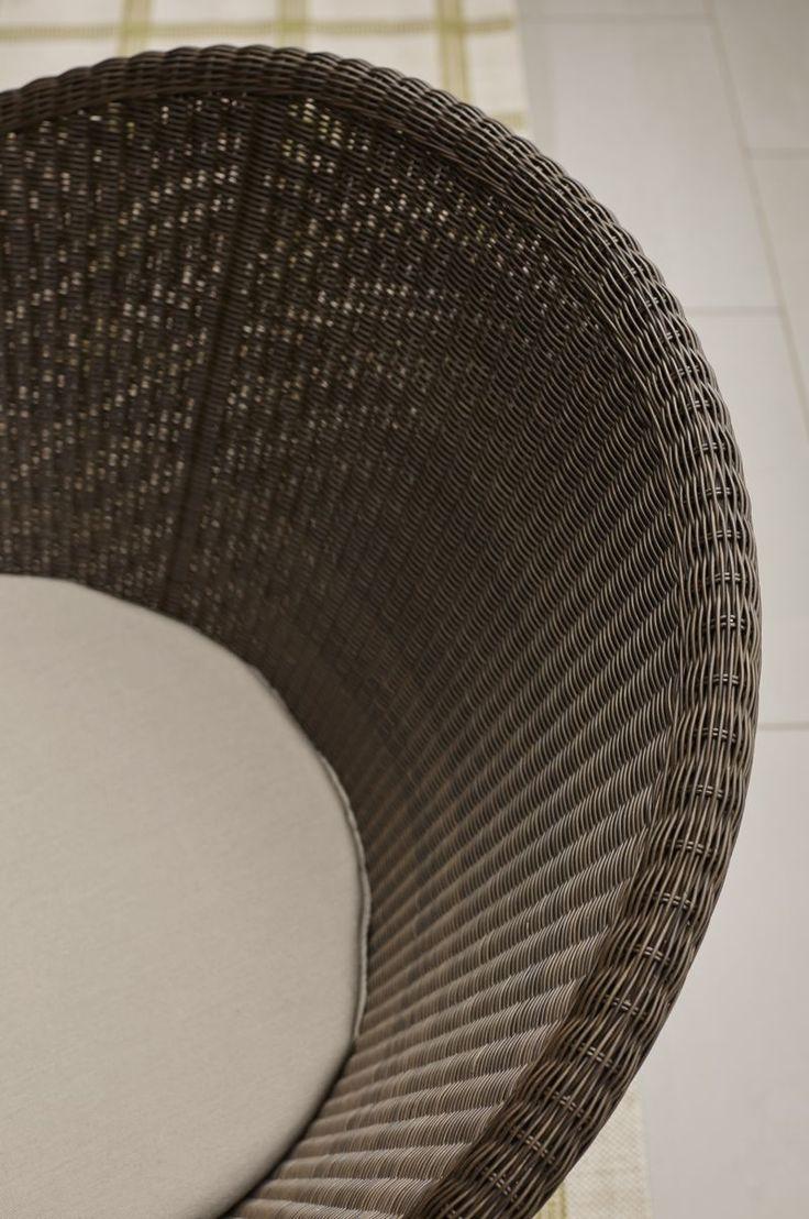 Lexington furniture chair fabric gold additionally ikea swivel chairs - Calypso Mocha Swivel Lounge Chair With Sunbrella Stone Chair Cushion Crate And Barrel
