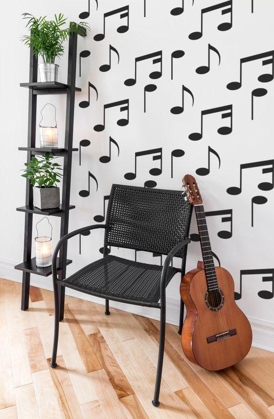 music notes wall decal music decal music wall decal music wall decor - Music Wall Decor