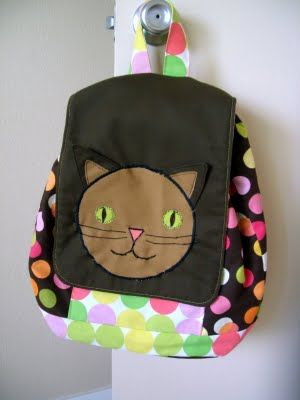 Back Pack tutorial. I'm in awe. This was a labor of love. Visit the etsy store and support this seamstress. She ROCKS!!