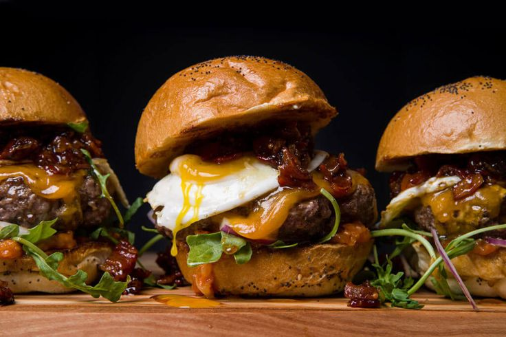 grilled beef burger topped with an addictive bacon jam, sharp cheddar ...