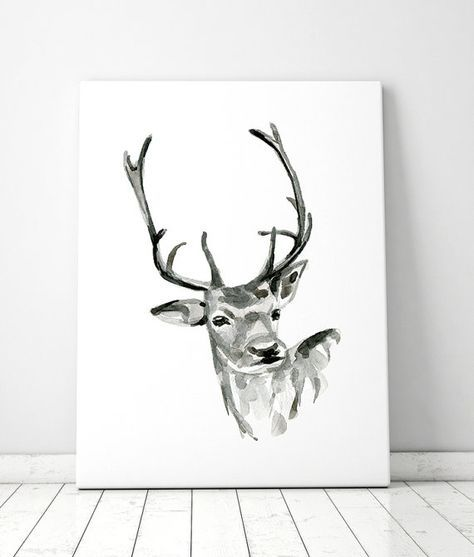 Image result for doe watercolor with flower