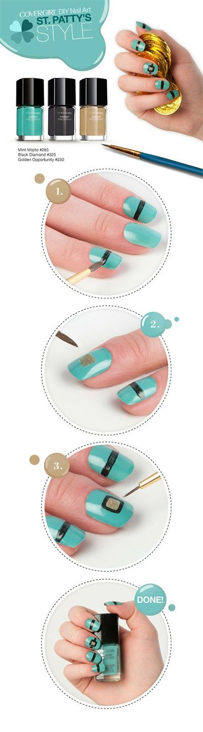 St. Patty's Day Step By Step Nail Art Tutorial