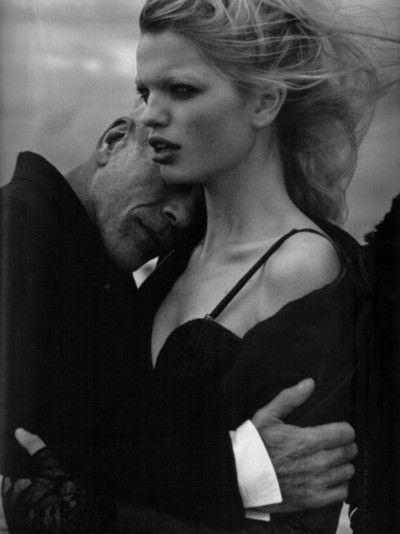 pneumode:  Daphne Groeneveld and Pascal Greggory shot by Peter Lindbergh