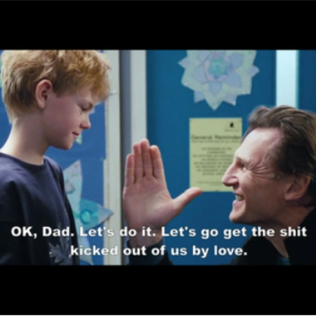 Love Actually. This remains one of my favorite lines ever. Thomas Sangster is a fantastic little actor. He was so perfect as Sam.