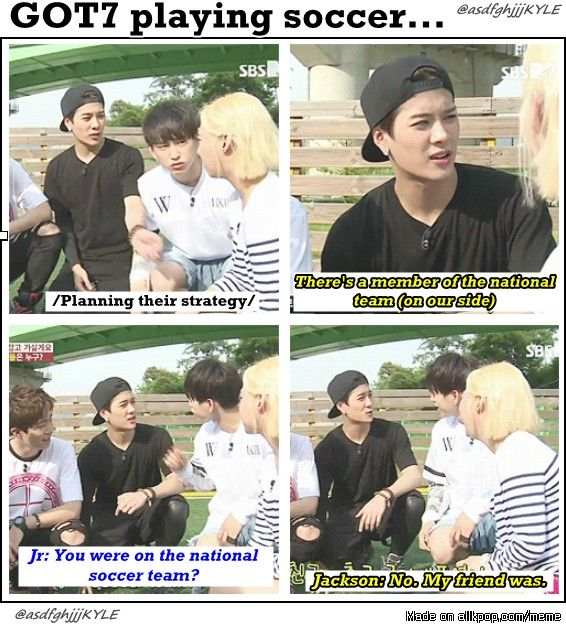 Jackson xD haha and soccer. Dude, xD you don't get talent for being friends with talent xD