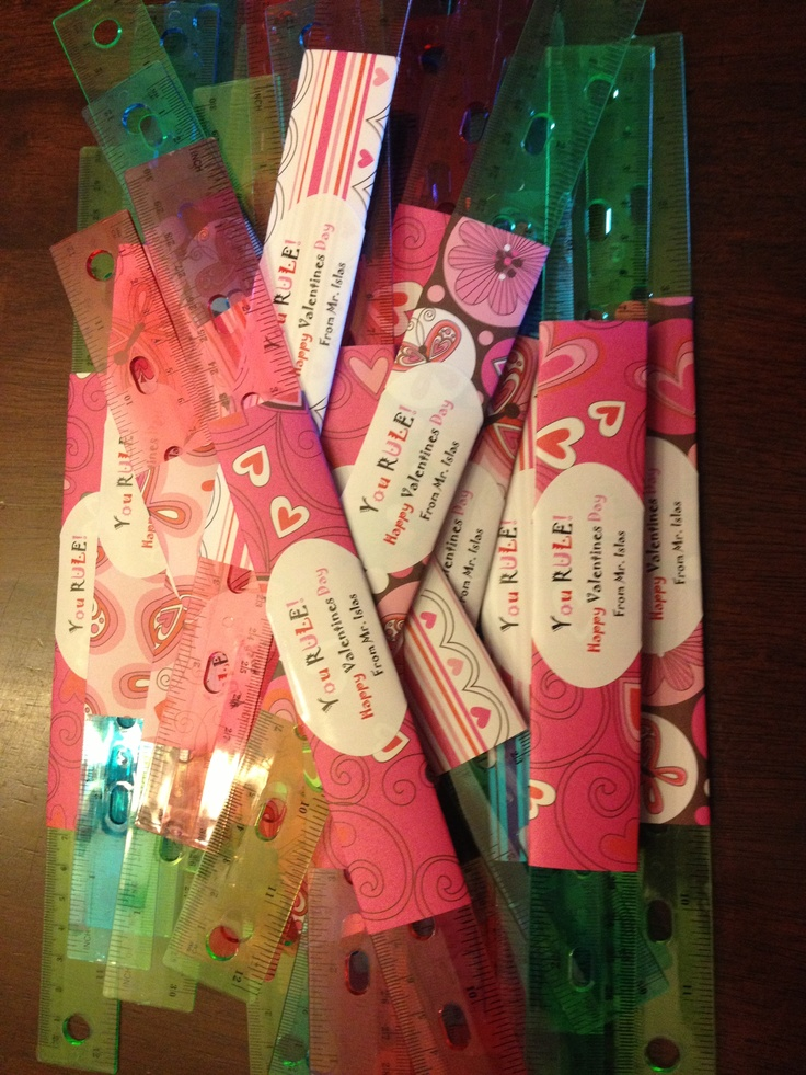 Cute valentine gifts to students from their teacher!
