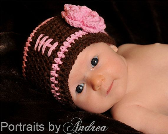 Who said football hats are only for boys? I got one of these for the grandbaby....even sweeter in person!