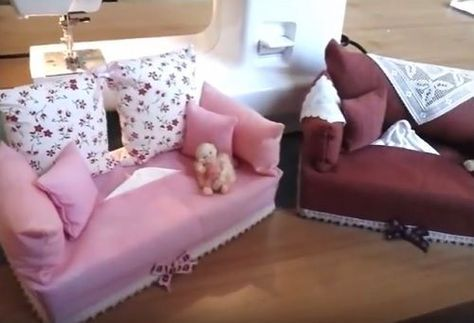 Come cucire un porta kleenex in stoffa a forma di divano. Video tutorial con spiegazioni in italiano.