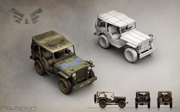 Jeep (Blue faction). Team Ravegan. Fan page: https://www.facebook.com/RaveganGames/photos_albums #3DModeling #3D